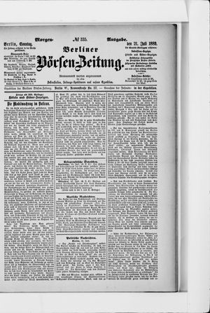 Berliner Börsen-Zeitung vom 21.07.1889