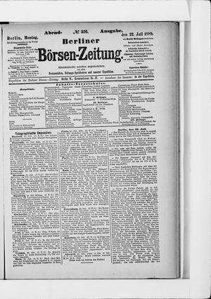 Berliner Börsen-Zeitung vom 22.07.1889