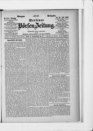 Berliner Börsen-Zeitung vom 23.07.1889