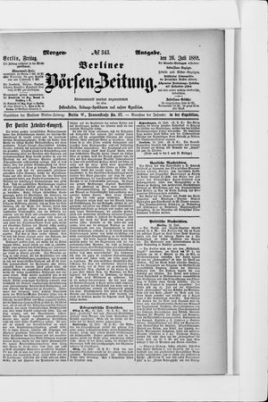 Berliner Börsen-Zeitung on Jul 26, 1889