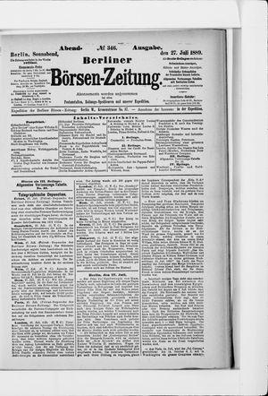 Berliner Börsen-Zeitung vom 27.07.1889