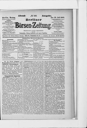 Berliner Börsen-Zeitung vom 29.07.1889