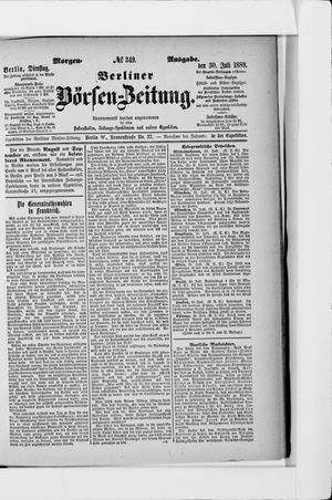 Berliner Börsen-Zeitung vom 30.07.1889