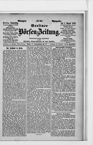 Berliner Börsen-Zeitung vom 01.08.1889