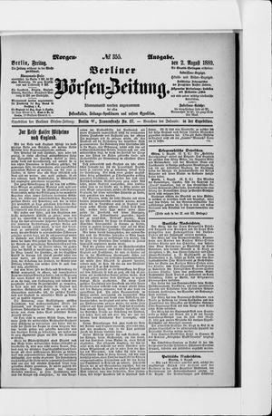 Berliner Börsen-Zeitung vom 02.08.1889