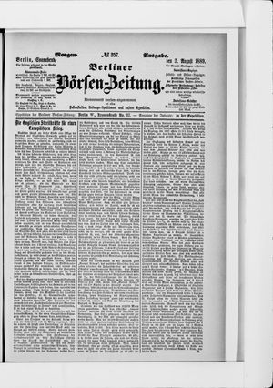Berliner Börsen-Zeitung vom 03.08.1889