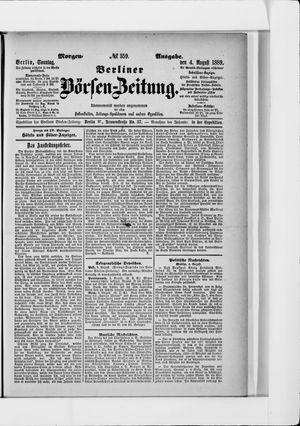 Berliner Börsen-Zeitung vom 04.08.1889