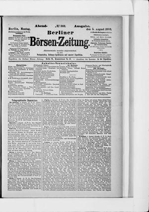 Berliner Börsen-Zeitung vom 05.08.1889