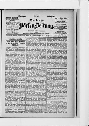Berliner Börsen-Zeitung vom 07.08.1889
