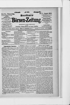 Berliner Börsen-Zeitung vom 08.08.1889