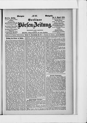 Berliner Börsen-Zeitung vom 09.08.1889