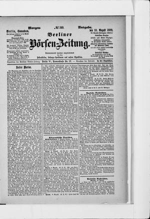 Berliner Börsen-Zeitung vom 10.08.1889