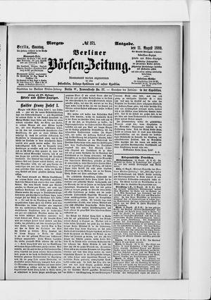 Berliner Börsen-Zeitung vom 11.08.1889