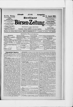 Berliner Börsen-Zeitung vom 12.08.1889