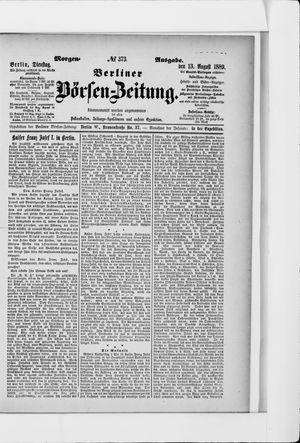Berliner Börsen-Zeitung vom 13.08.1889