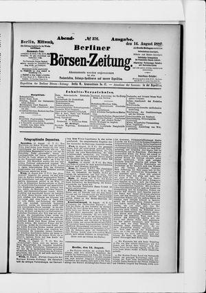 Berliner Börsen-Zeitung vom 14.08.1889
