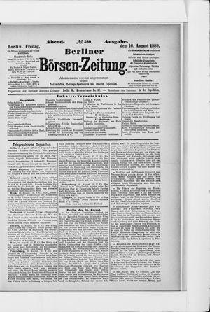 Berliner Börsen-Zeitung vom 16.08.1889