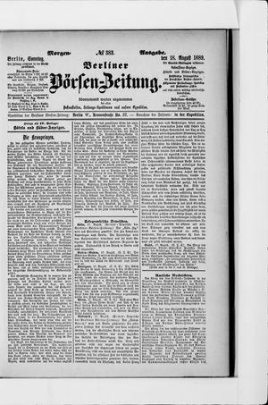 Berliner Börsen-Zeitung vom 18.08.1889