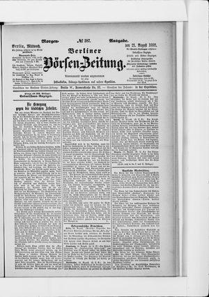 Berliner Börsen-Zeitung vom 21.08.1889
