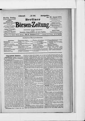 Berliner Börsen-Zeitung vom 23.08.1889