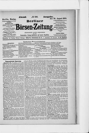 Berliner Börsen-Zeitung vom 26.08.1889