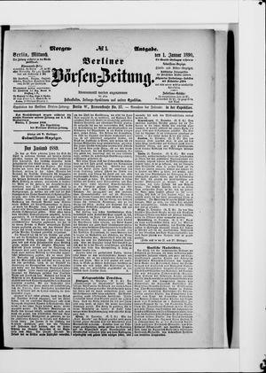 Berliner Börsen-Zeitung vom 01.01.1890