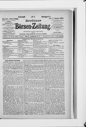 Berliner Börsen-Zeitung vom 02.01.1890