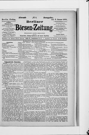 Berliner Börsen-Zeitung vom 03.01.1890
