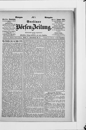 Berliner Börsen-Zeitung vom 04.01.1890