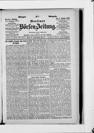 Berliner Börsen-Zeitung vom 05.01.1890