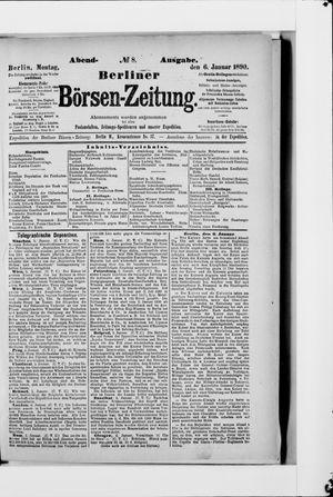 Berliner Börsen-Zeitung vom 06.01.1890