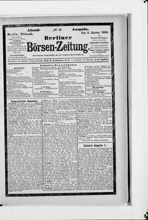 Berliner Börsen-Zeitung vom 08.01.1890
