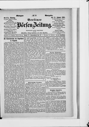Berliner Börsen-Zeitung vom 12.01.1890