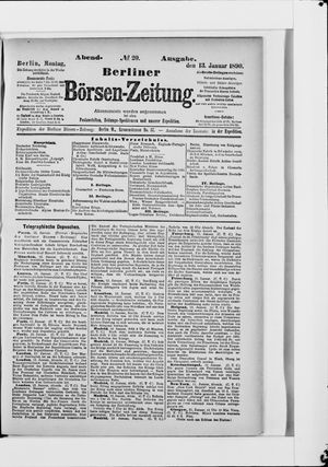 Berliner Börsen-Zeitung vom 13.01.1890