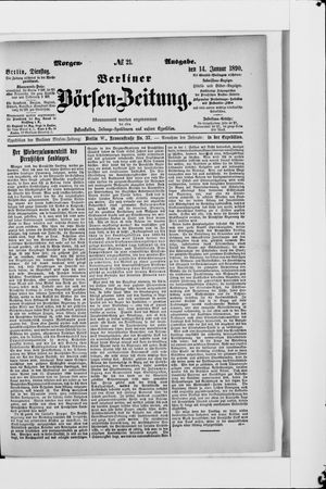 Berliner Börsen-Zeitung vom 14.01.1890