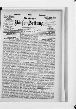 Berliner Börsen-Zeitung vom 15.01.1890