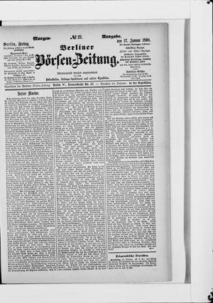 Berliner Börsen-Zeitung vom 17.01.1890