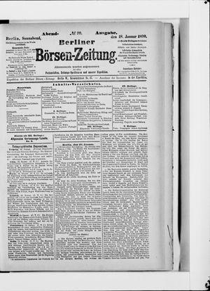 Berliner Börsen-Zeitung vom 18.01.1890