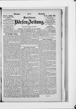 Berliner Börsen-Zeitung vom 19.01.1890