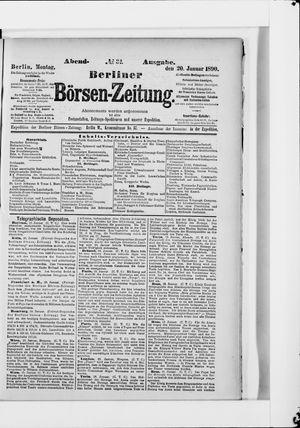 Berliner Börsen-Zeitung vom 20.01.1890