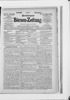Berliner Börsen-Zeitung vom 21.01.1890