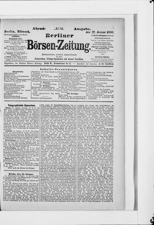 Berliner Börsen-Zeitung vom 22.01.1890