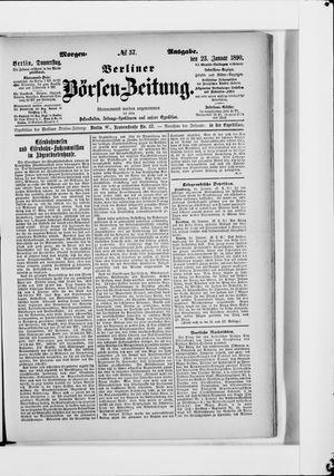 Berliner Börsen-Zeitung vom 23.01.1890