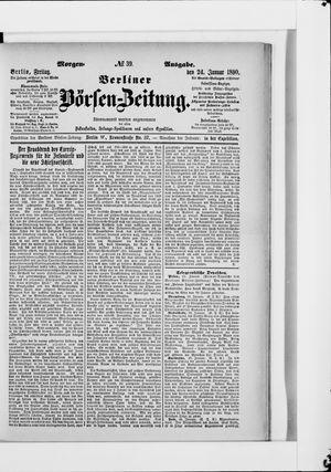 Berliner Börsen-Zeitung vom 24.01.1890