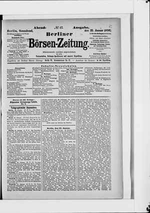 Berliner Börsen-Zeitung vom 25.01.1890