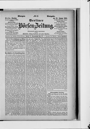 Berliner Börsen-Zeitung vom 26.01.1890