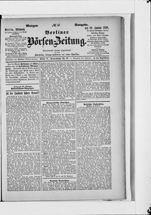 Berliner Börsen-Zeitung vom 29.01.1890