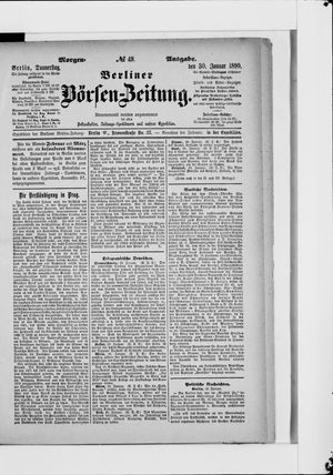 Berliner Börsen-Zeitung vom 30.01.1890