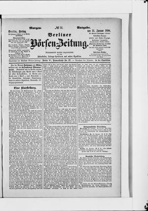 Berliner Börsen-Zeitung vom 31.01.1890