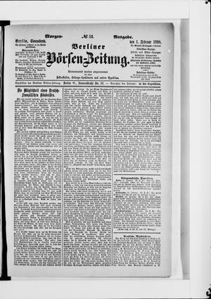 Berliner Börsen-Zeitung vom 01.02.1890
